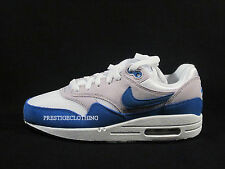 ORIGINAL MENS WOMENS GIRLS BOYS  NIKE AIR MAX 1 GREY BLUE TRAINERS 555766147