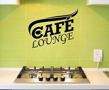 Wall tattoo Cafe Lounge Coffee Kitchen Decoration Sticker Picture Adhesive 5Q553