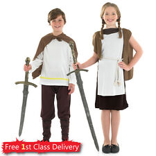 Girls Viking Fancy Dress Costume Boys Viking Outfit School Historical Day 4-12 Y