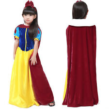 2016 Girls Halloween Party Dress Snow White Princess Costume Fancy Cosplay Dress