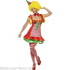Womens Boo Boo the Clown Costume Party Fancy Dress Circus Carnival Funny Outfit