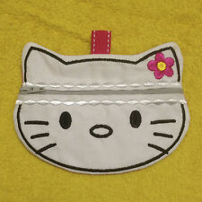 In-The-Hoop ZIP BAG * KITTY * Machine Embroidery Patterns * 5x7in hoop