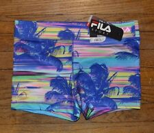 Fila Sport Compression Running Shorts Performance Wear Wicking Tropical $28.00