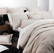 Platinum Logan & Mason ASCOT LINEN Waffle Duvet Doona Quilt Cover Set 5 Sizes