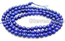 "SALE Small Blue 4mm Round  natural lapis lazuli loose beads strand 15""-lo638"