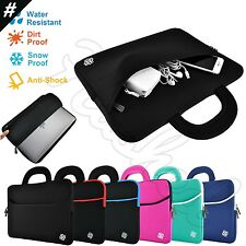 "Slim Notebook Sleeve Carrying Case Cover Bag Handle for 15"" - 15.6"" Inch Laptop"