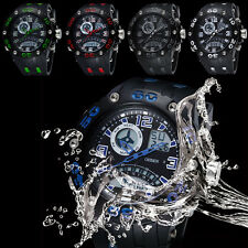 New Analog Digital LCD Dual Time Multi-function Mens Military Sports Wristwatch