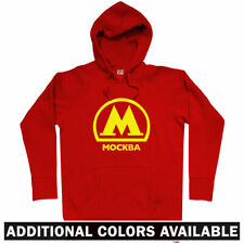 Moscow Metro Hoodie - Mockba Russia Subway Graffiti Railway Russian - Men S-3XL
