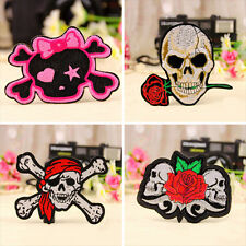 Hot Punk DIY Skull Embroidered Iron On / Sew On Patch Applique Badge 4Styles