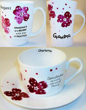 PERSONALISED BONE CHINA Pansy Cup For TEA Her Birthday Easter Gifts Presents Mug