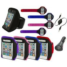 Color Running Sports Gym ArmBand+Aux+Charger for iPhone 4 4G 4S 3GS S 3G 2G