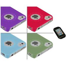 Heart Love Pattern Ultra Thin Hard Case Cover+Sticky Pad for iPhone 4 4G 4S