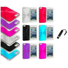 Chrome Aluminum Hard Luxury Case Cover Accessory+Stylus Plug for iPhone 5 5S