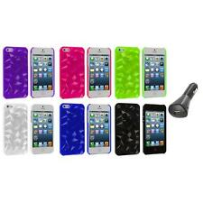 Abstract Polygon 3D Diamond Ultra Thin Case Cover+Car Charger for iPhone 5 5S