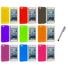Ultra Thin 0.5mm Color Transparent Matte Case Cover+Metal Pen for iPhone 5 5S