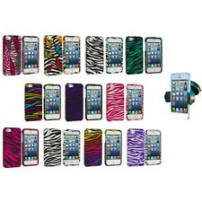 Zebra Design Hard Snap-On Rubberized Case Cover+Windshield Mount for iPhone 5 5S
