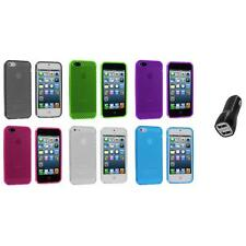 TPU Mesh Perforated Color Rubber Skin Case Cover+2A Charger for iPhone 5 5S 5th