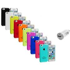 For iPhone 5C Crystal Hard Snap-On Ultra Thin Back Case Cover+USB Charger