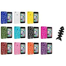 For Apple iPhone 5C Color Birds Nest Slim Hard Snap-On Case Cover+Cable Wrap