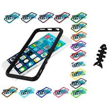 For Apple iPhone 6 (4.7) TPU Bumper Frame Metal Buttons Case Cable Wrap