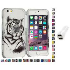 For Apple iPhone 6 PLUS 5.5 Design Hard Snap-On Case Cover Car Charger