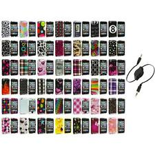 Color Design Hard Snap-On Case Cover+Aux Cable for iPod Touch 4th Gen 4G