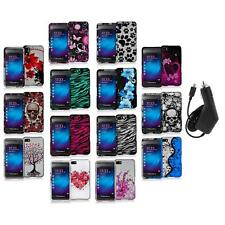 Design Hard Snap-On Rubberized Case Cover+Charger for Blackberry Z10 Phone
