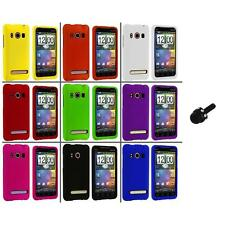 Color Hard Snap-On Rubberized Case Cover+Mini Stylus for HTC Sprint EVO 4G