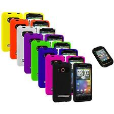 Color Silicone Gel Soft Case Cover+Sticky Pad for HTC Sprint EVO 4G Accessory
