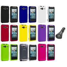 Color Hard Snap-On Case Cover+Car Charger for HTC EVO Shift 4G Phone Accessory