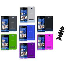 Color TPU Plain Case Cover Accessory+Cable Wrap for HTC Windows Phone 8S