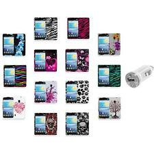 For LG Lucid 2 VS870 Color Hard Design Rubberized Case Cover+USB Charger