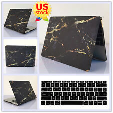 """2in1 Black Marble Golden Lines Hard Case Cover for MacBook Pro 13""""  Air 11""""/13"""""""