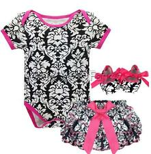 Girls Baby Floral Romper Jumpsuit Bloomers Pants Shoes Outfits Party Clothes New