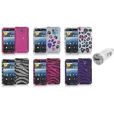 Color Bling Diamond Rhinestone Case Cover+USB Charger for Pantech Discover P9090
