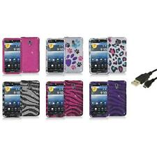 Color Bling Diamond Rhinestone Case Cover+USB Cable for Pantech Discover P9090