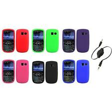 Color Silicone Rubber Gel Case Cover+Aux Cable for Pantech Link II 2 P5000