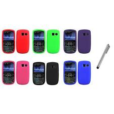 Color Silicone Rubber Gel Case Cover+Metal Pen for Pantech Link II 2 P5000