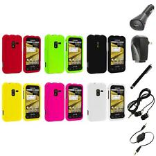 Color Hard Snap-On Rubberized Case Cover+Accessories for Samsung Conquer 4G D600