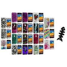 Design Hard Case Cover+Cable Wrap for Samsung Epic Touch 4G Sprint Galaxy S2