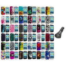 Design Hard Snap-On Case Cover Accessory+Car Charger for Samsung Galaxy S III S3