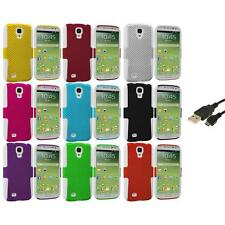 Hybrid Mesh Hard/Soft Case Cover+USB Cable for Samsung Galaxy S4 S IV i9500