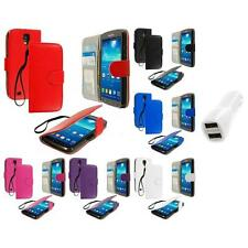 For Samsung Galaxy S4 Active Wallet Pouch Flip Case Cover Car Charger