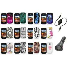 For Samsung Proclaim S720C Illusion Color Hard Design Case Cover+Aux+Charger