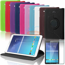 PU Leather Smart Case Cover + Screen Protector For Samsung Galaxy Tab E 9.6 T560