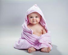 Arus Baby Organic Turkish Cotton Terry Hooded Swaddle Towel Wrap Washcloth Set