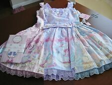 Angelic Pretty Sweet Lolita Dolly Cat Low Waist JSK Dress and Accessory Set NWT