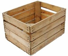 GRADED EUROPEAN VINTAGE WOODEN APPLE BOX STORAGE FRUIT CRATES BOX SHABBY CHIC ..