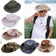 Men Army Camo Hunting Fishing Hiking Hat Outdoor Cap Bucket Boonie Sun Hat Mesh