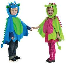 BOYS GIRLS TODDLER SOFT FANCY DRESS UP DRAGON COSTUME OUTFIT NEW AGE 2-3 YEARS